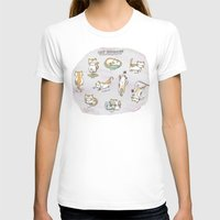 Cat Activities Womens Fitted Tee White SMALL