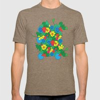 Vector Flowers Mens Fitted Tee Tri-Coffee SMALL