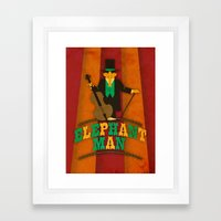 Elephant Man Framed Art Print