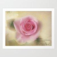 Go Lovely Rose Art Print