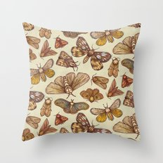 Moth Pattern Throw Pillow