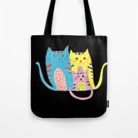 3 In 1 Cat Family Tote Bag