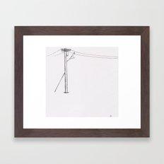 Telephone Pole Framed Art Print