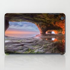 Sea Cave Sunset on Lake Superior iPad Case