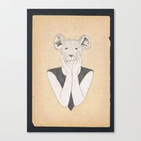 Mouse Girl Canvas Print