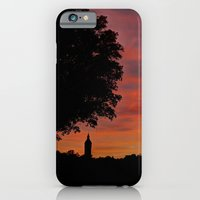 iPhone Cases featuring Gorgeous sunset in LOVE  by UtArt