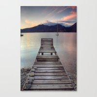 Jetty - Lake Maggiore, I… Canvas Print