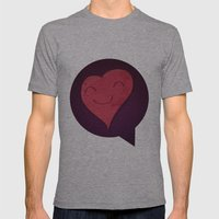Pushing Love Like Pimps Mens Fitted Tee Athletic Grey SMALL