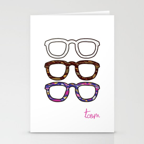 Glasses Stationery Card