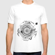 Little planet Mens Fitted Tee SMALL White
