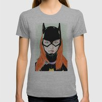 Batgirl Womens Fitted Tee Athletic Grey SMALL