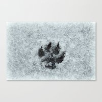 Printed In Snow Canvas Print