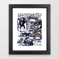 You Must Do As Wolf Tells You Framed Art Print