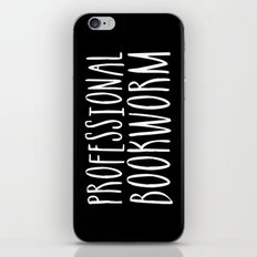 Professional bookworm - Inverted iPhone & iPod Skin
