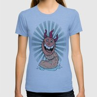 Tongue Creature Womens Fitted Tee Athletic Blue SMALL