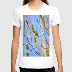 leaves nature Womens Fitted Tee White SMALL
