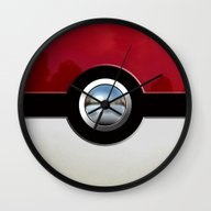 Retro Chrome Pokeball IP… Wall Clock