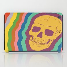 Trippy Rainbow Skull iPad Case