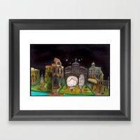 Diorama Framed Art Print