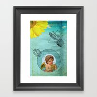 Angel Playing Music In S… Framed Art Print