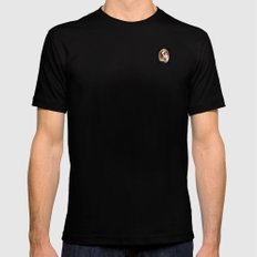Portrait of a Boston Terrier Mens Fitted Tee Black SMALL