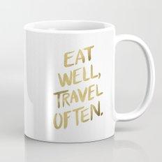 Eat Well Travel Often on Gold Mug