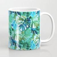 Palm Leaf Green Mug