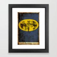 Bat Logo Framed Art Print