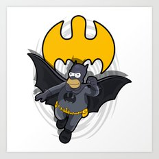 Bat-homer In Action: The… Art Print