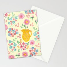 Watercolor floral with vase Stationery Cards