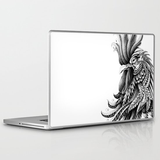 Ornately Decorated Rooster Laptop & iPad Skin
