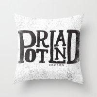 PORTLAND, OR Throw Pillow