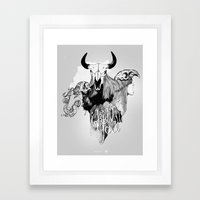 I Kill You Framed Art Print