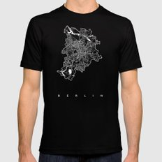 BERLIN SMALL Mens Fitted Tee Black