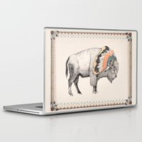 native Laptop & iPad Skins featuring White Bison by Sandra Dieckmann