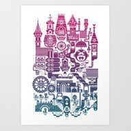 Art Print featuring Castle Mama by C86 | Matt Lyon