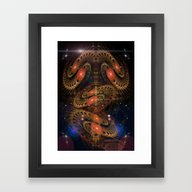 Framed Art Print featuring Sacred Spaces Optical Il… by BohemianBound