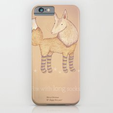 Christmas creatures- Fox with long socks iPhone 6 Slim Case