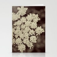 Lace Black and White Flower Stationery Cards