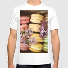 Pretty Macaroons Mens Fitted Tee SMALL White