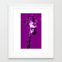 This Is A Giraffe Framed Art Print
