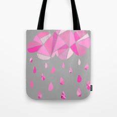Fractured Pink Cloud Tote Bag