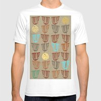 Pods and Seeds 2 on Linen Mens Fitted Tee White SMALL