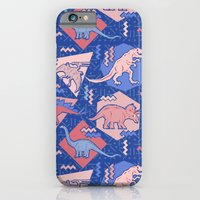 Nineties Dinosaurs Pattern  - Rose Quartz and Serenity version iPhone 6 Slim Case