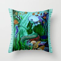 Little Mermaid. Throw Pillow