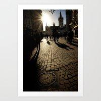 Trier Street Scene Art Print
