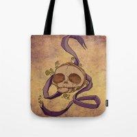 Skull And Ribbon  Tote Bag
