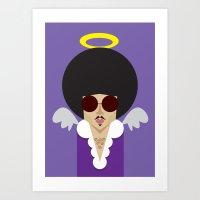 The Purple Prince Art Print