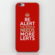 iPhone & iPod Skin featuring BE ALERT! by Peter Gross