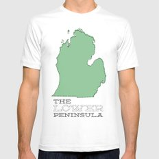 The Lower Peninsula Mens Fitted Tee White SMALL